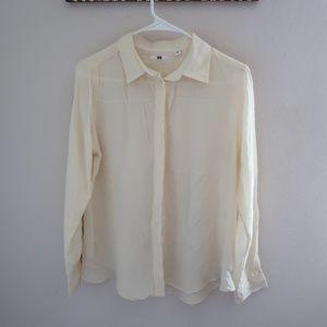 UNIQLO Silk Long Sleeve Button Down